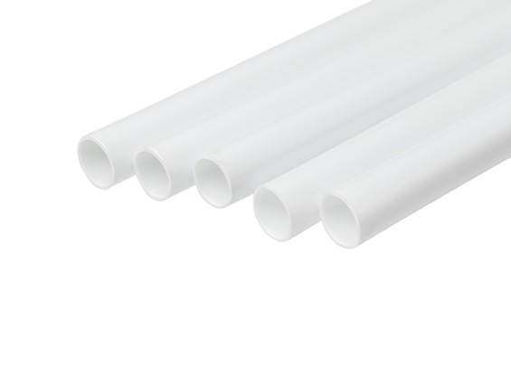 ABS Round Tube 10.0mm OD x 500mm White (Qty 5)