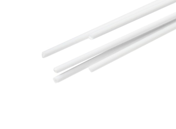 ABS Round Rod 0.8mm x 500mm White (Qty 5)
