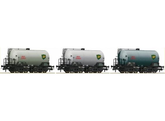 Roco HO 3pc Tank Wagon Set SJ (BP)