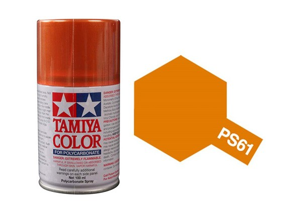 Tamiya Spray Paint Ps 61 Metallic Orange Acrylic Paints 100ml Hobbyking