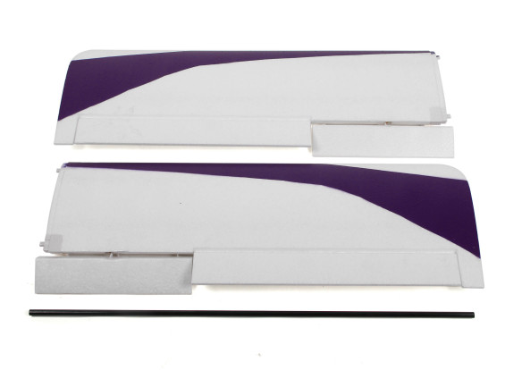 Durafly Tundra - Purple/Gold Main Wing Set w/Control Horns (Revised Connector)