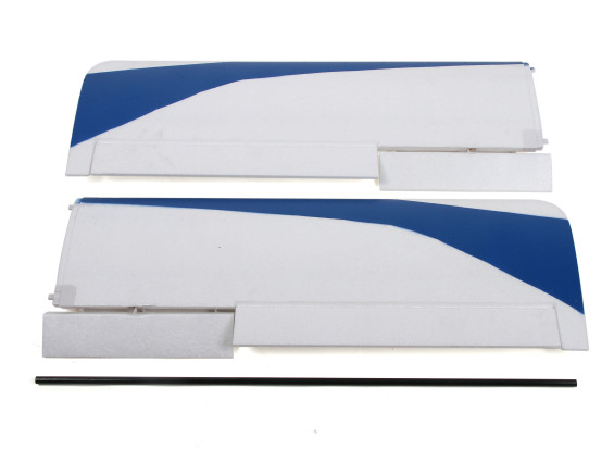 Durafly Tundra - Blue/Red Main - Wing Set w/Control Horns (Revised Connector)