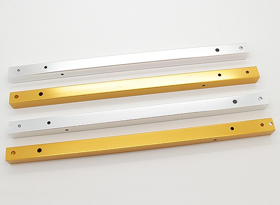 Hobbyking X525 V3 Aluminum Square Booms (Golden Yellow & Silver) (4pcs/bag)