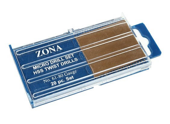 Zona 20pc High Speed Twist Drill Set (#61-#80)