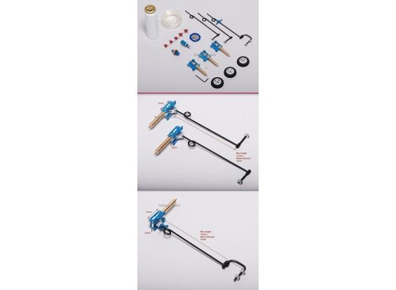 Small Air Operated Retracts kit 2-WayValve
