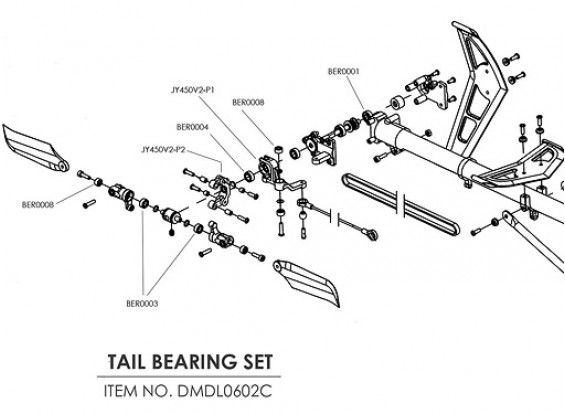 Ceramic bearing upgrade kit for HK-500 (Tail Drive)
