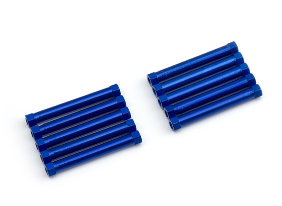 Lightweight Aluminium Round Section Spacer M3x26mm (Blue) (10pcs)