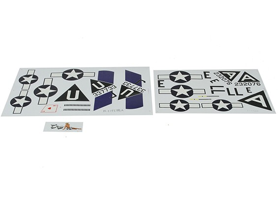 Hobbyking 1875mm B-17 F/G Flying Fortress (V2) (Silver) - Replacement Decal Set