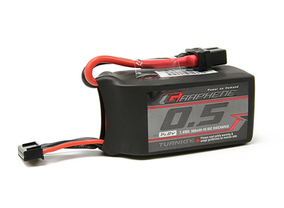 Turnigy Graphene 500mAh 4S 65C Lipo Pack (Short lead)