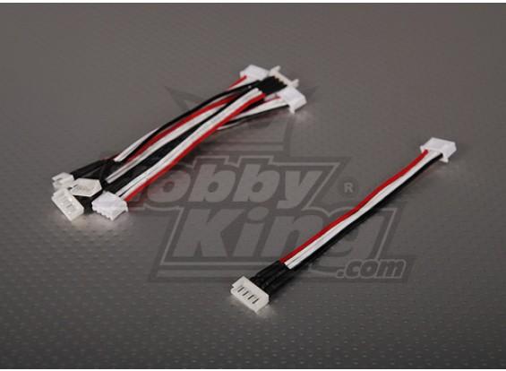 Male JST-XH <-> Female Kokam 3S 10cm (5pcs/bag)