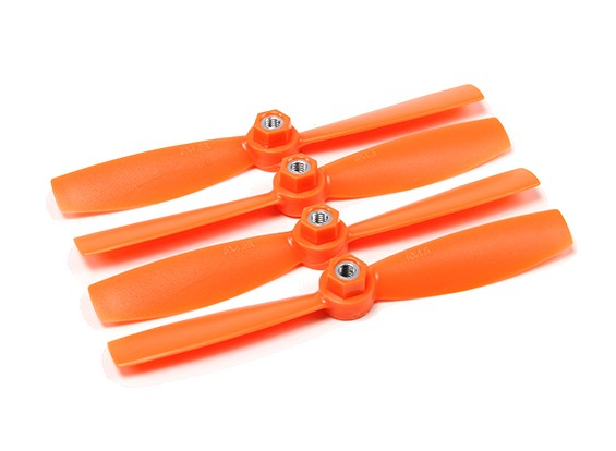 Diatone Self Tightening Polycarbonate Bull Nose Propellers 5045 (CW/CCW) (Orange) (2 Pairs)