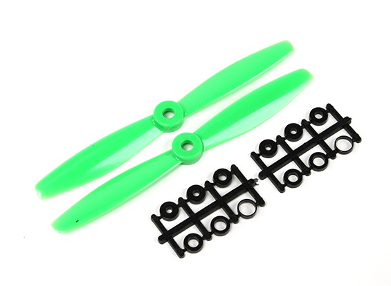GemFan 6040 Bullnose Polycarbonate Propellers (CW/CCW) Green (1 pair)