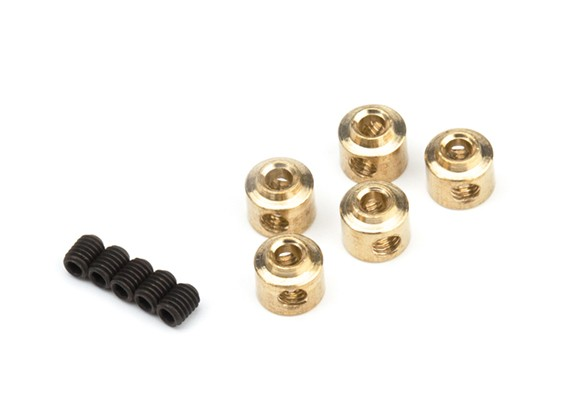 Wheel Collars 2.5mm (Brass)  5pcs/bag