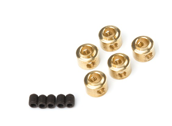 Wheel Collars 3.5mm (Brass)  5pcs/bag