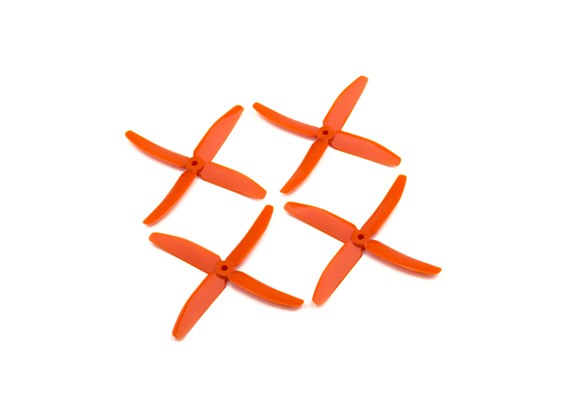 "Dalprops ""Indestructible"" PC 5040 4-Blade Props Orange (CW/CCW) (2 pairs)"