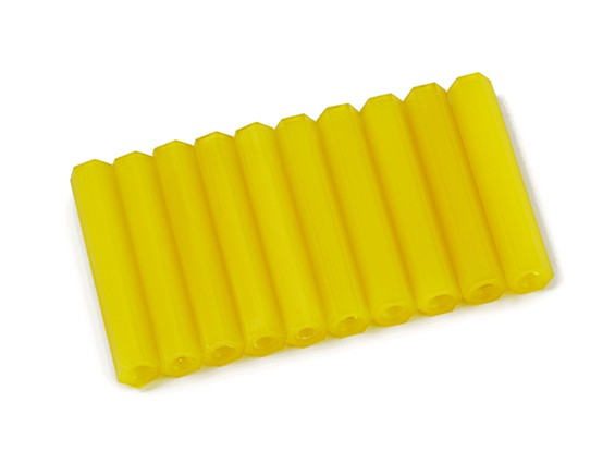 Nylon Spacer 35mm M3 F/F Yellow (10pcs)