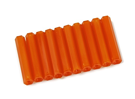 Nylon Spacer 35mm M3 F/F Orange (10pcs)