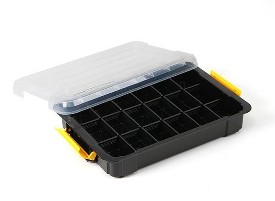 Plastic Multi-Purpose Organizer - 18 Compartment (Clear)