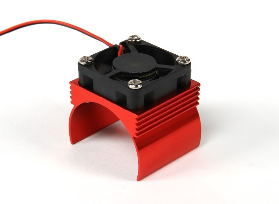 Heatsink with Heat Dissipation Fan 540/34mm Brushless Inrunner Motor