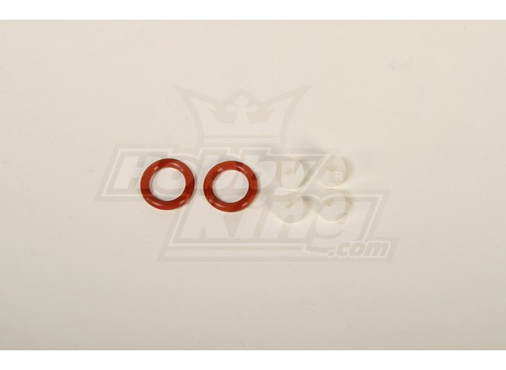 O-ring and Silicon Gromments Set (White/4pcs & Red/2pcs)