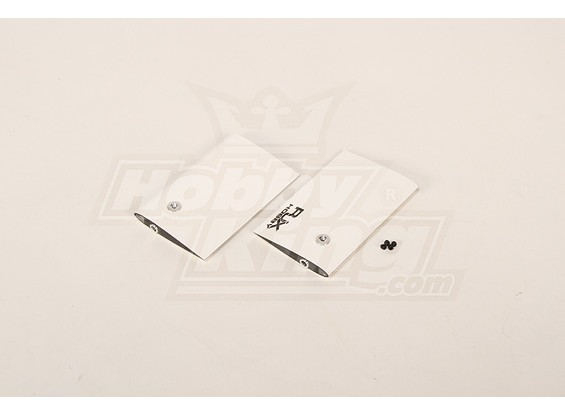 White CF Paddle 85mm for 50 size heli (4mm)