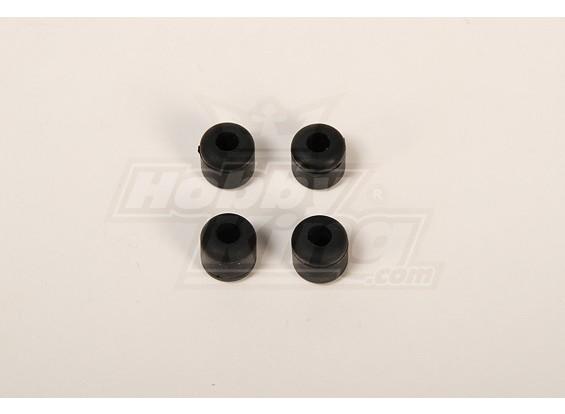 Landing Skid Rubber Nut Black (dia 7mm) for 8mm Landing Skid (JR, Rapotor, RJX)