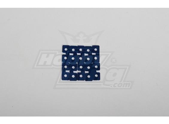 Metal Servo Plate (Blue) 10pcs