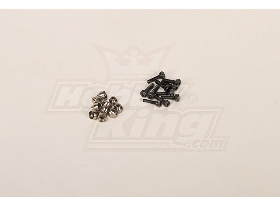 M4.8 Steel Ball w/ 2x8 screw for all helis (10pcs)