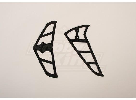 Carbon Fiber Fins for Raptor 30/50 (2mm)