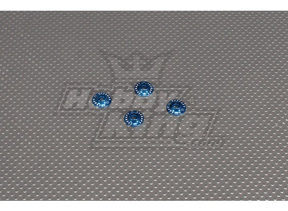 CNC Flanged Washer 3.0 (M3,#4 40) Blue