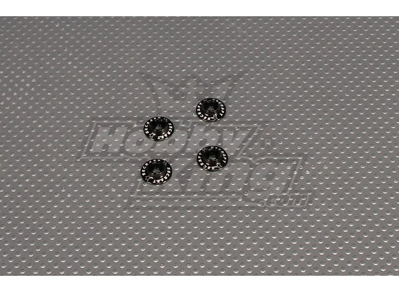 CNC Flanged Washer 3.0 (M3,#4 40) Black