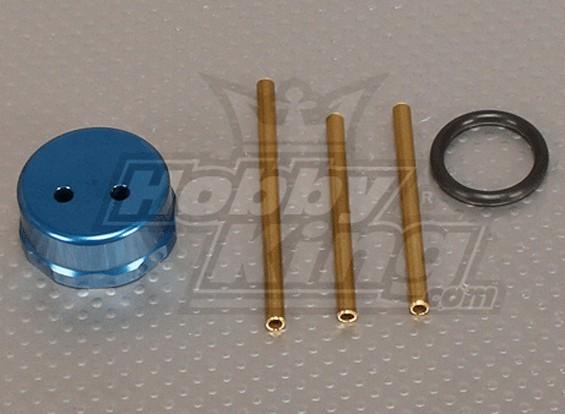 CNC Fuel Tank Cap Blue
