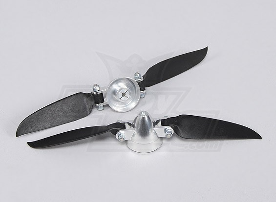 Folding Propeller Assembly 7x3 (Alloy/Hub Spinner) (2pc/bag)