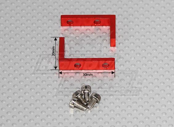 Aluminum Micro / Standard Servo Mount (1 set)