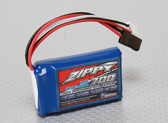 ZIPPY Flightmax 700mAh 6.6V 5C LiFePo4 Receiver Pack