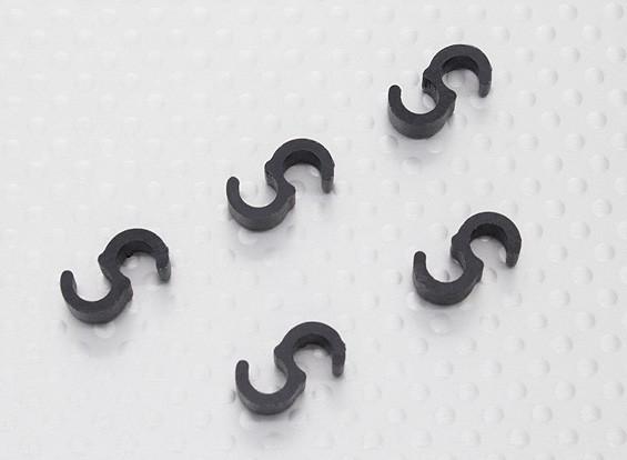 Pipe Clips Black (5pcs/set)