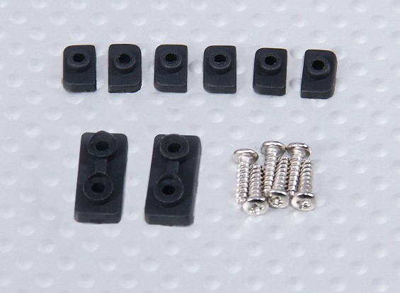 450 Size Heli Servo Mounting Parts