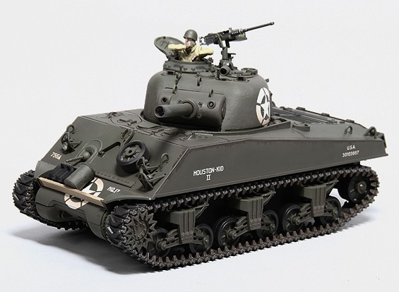 US-M4A3 Sherman Medium RC Tank RTR w/ Tx/Sound/Infrared (756th Tank Btn HQ)