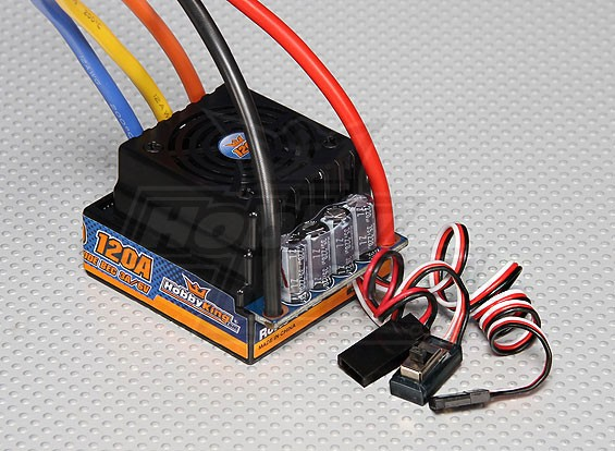 HobbyKing™ 120A Sensored/Sensorless Car ESC (1:8/1:5)