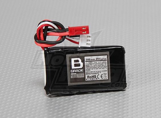 B-Grade 350mAh 2S 25C Lipoly Battery