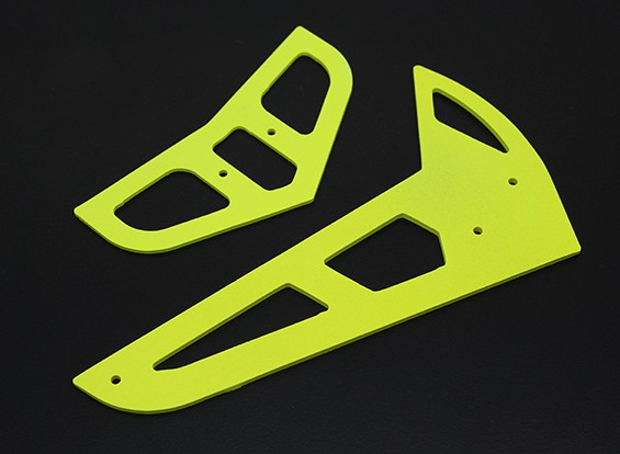 Neon Yellow Fiberglass Horizontal/Vertical Fins Trex 450 V1/V2/Sport/PRO