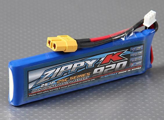 Zippy-K Flightmax 920mAh 2S1P 25C Lipoly Battery
