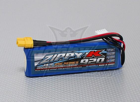Zippy-K Flightmax 920mAh 4S1P 25C Lipoly Battery