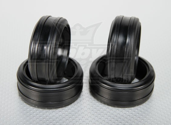 1:10 Scale Soft Rubber Drift Tires w/Removable Hard Plastic Rings RC Car 26mm (4pcs/set)