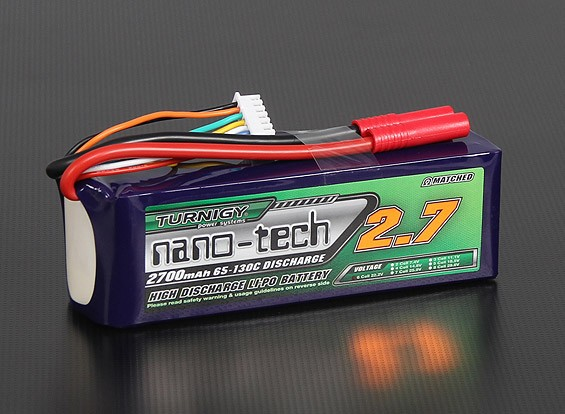 Turnigy nano-tech 2700mah 6S 65~130C Lipo Pack