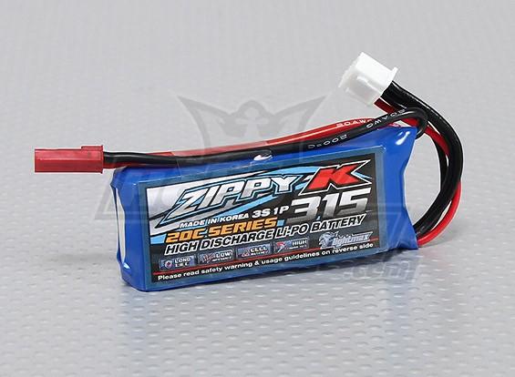 Zippy-K Flightmax 315mah 3S1P 20C Lipoly Battery