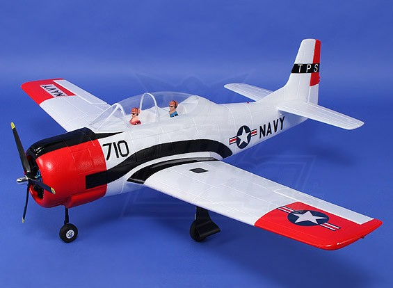 T-28 Trojan (White) 1270mm w/retracts & nav lights (PNF)