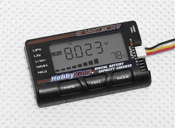 H-King Cellmeter-7 Lipo/Life/Li-ion/Nimh/Nicd Digital Battery Checker