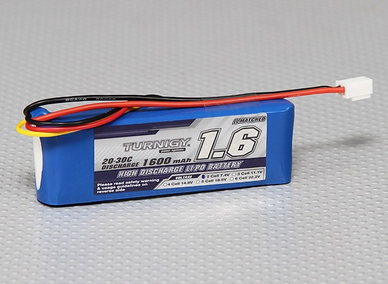Turnigy 1600mAh 2S 20C Lipo Pack (Losi Mini Compatible)