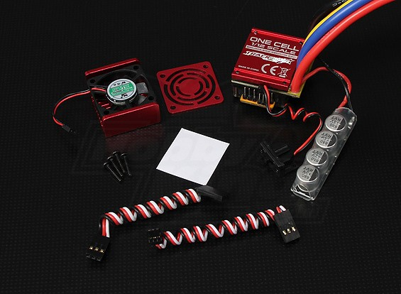 Turnigy TrackStar One Cell 120A 1/12th And 1/10th Scale Sensored Brushless Car ESC